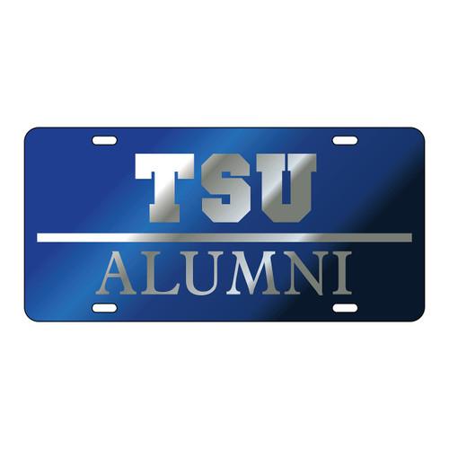 Tennessee State Tag (LASER BLU/SIL TSU ALUMNI TAG (28034))