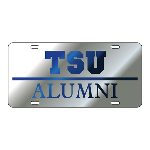 Tennessee State Tag (LASER SIL/BLU TSU ALUMNI TAG (28035))