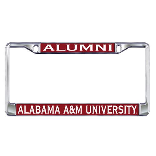 Alabama A&M Plate Frame (DOMED AAMU ALUMNI PLATE FRAM (44042))