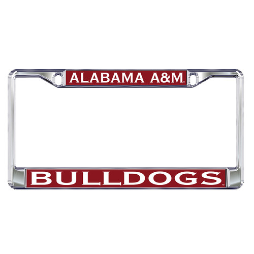 Alabama A&M Plate Frame (DOMED AAMU BULLDOGS PLATE FRAM (44041))