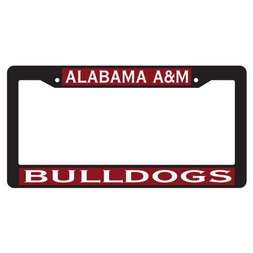 Alabama A&M Plate Frame (BLK PLATE FRAME AAMU BULLDOGS (44005))