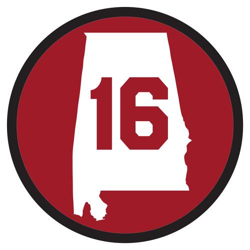 Alabama Crimson Tide Hitch Cover (ALABAMA 16 STATE HITCH (10872))