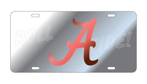 Alabama Crimson Tide Tag (LASER A ROLL TIDE SYM SATIN TA)