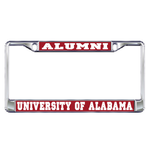 Alabama Crimson Tide Plate Frame (DOMED AL ALUMNI METAL PLT FRAM (10189))