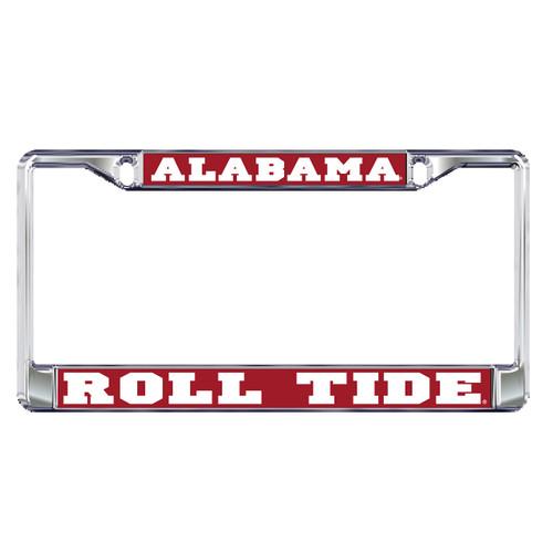 Alabama Crimson Tide Plate Frame (DOMED AL METAL PLATE FRAME (10188))