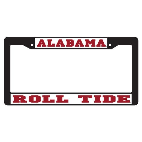 Alabama Crimson Tide Plate Frame (BLACK PLATE FRAME AL ROLL TIDE (10160))