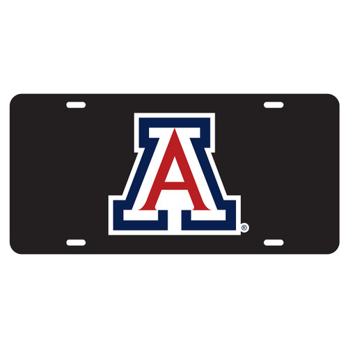 Arizona Wildcats Tag (LASER BLK DOMED BLU/RED A TAG (28502))