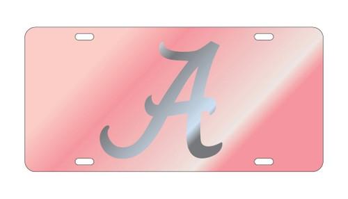 Alabama Crimson Tide Tag (LASER PINK /SIL A TAG)