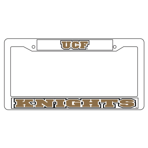 Central Florida Golden Knights Plate Frame (WHT PLATE FRAME UCF KNIGHTS (29017))