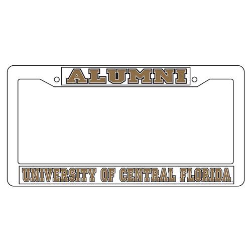 Central Florida Golden Knights Plate Frame (WHT PLATE FRAME UCF ALUMNI (29019))