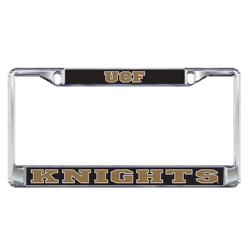 Central Florida Golden Knights Plate Frame (DOMED UCF METAL PLATE FRAME (29039))