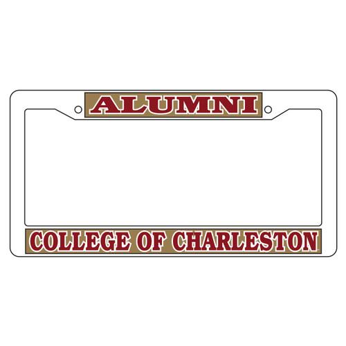 Charleston Cougars Plate Frame (WHT PLATE FRAME C OF C ALUMNI (20633))