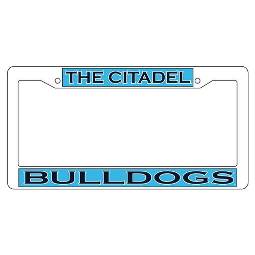 Citadel Bulldogs Plate Frame (WHT PLATE FRAME CITADEL BULLDO (31532))