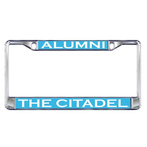 Citadel Bulldogs Plate Frame (DOMED CITADEL ALUMNI PLATE FRA (31539))