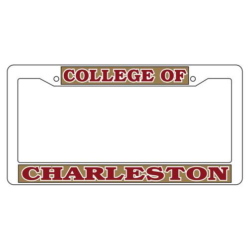 Charleston Cougars Plate Frame (WHT PLATE FRAME C OF C (20631))