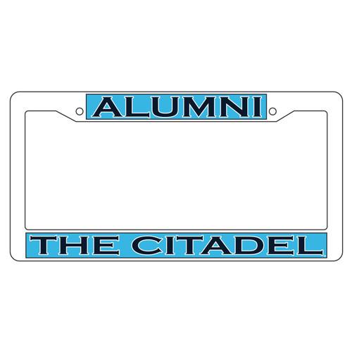 Citadel Bulldogs Plate Frame (WHT PLATE FRAME CITADEL ALUMNI (31534))