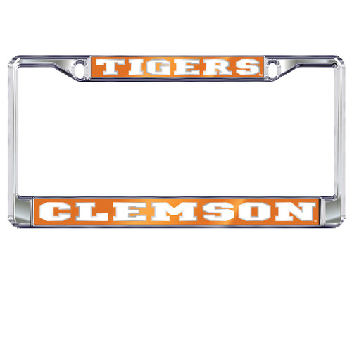 Clemson Tigers Plate Frame (MIRROR DOMED CLE PLATE FRAME (14144))