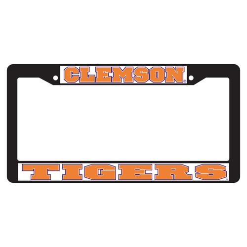 Clemson Tigers Plate Frame (BLACK PLATE FRAME CLE TIGERS (14088))