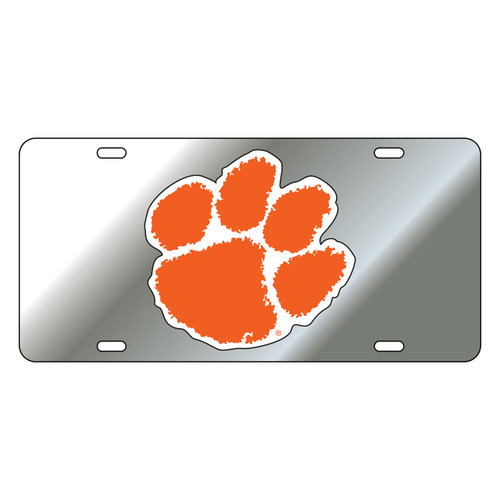 Clemson Tigers Tag (Mirror Acrylic with Reflective Logo Decal (14003))