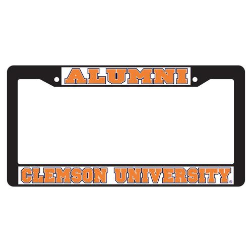 Clemson Tigers Plate Frame (BLACK PLATE FRAME CLE ALUMNI (14090))