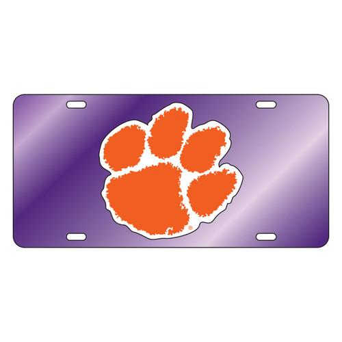Clemson Tigers Tag (PURPLE MIRROR/REF ORG PAW TAG (14007))