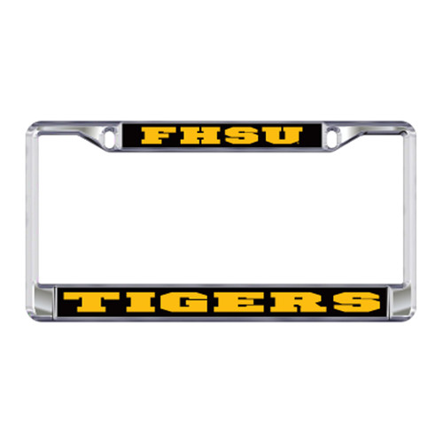 Fort Hays State Plate_Frame (DOMED FHSU TIGERS PLATE FRAME (98107))