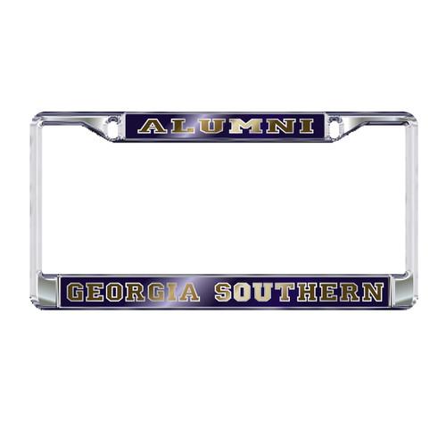 Georgia Southern Eagles Plate Frame (MIRROR DOMED GS ALUMNI FRAME_19603)