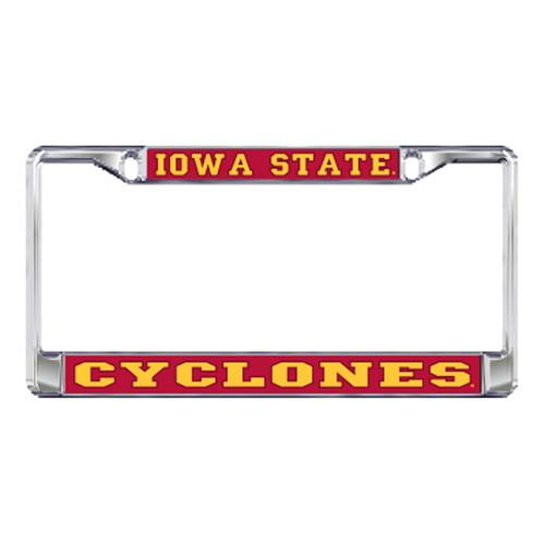 Iowa State Plate_Frame (DOMED IOWA ST METAL PLATE FRAM (13539))