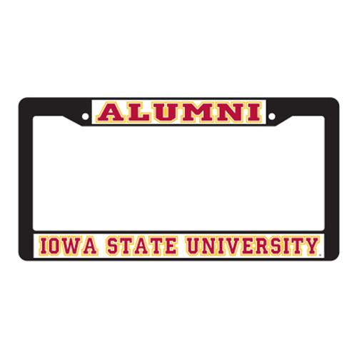 Iowa State Plate_Frame (BLK PLATE FRAME IOWA ST ALUMNI (13513))
