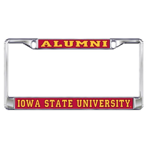 Iowa State Plate_Frame (DOMED IOWA ST ALUMNI PLATE FRA (13540))
