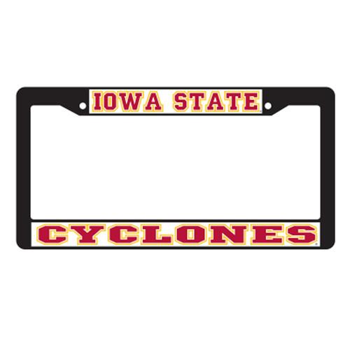 Iowa State Plate_Frame (BLK PLATE FRAME IOWA ST CYCLON (13512))