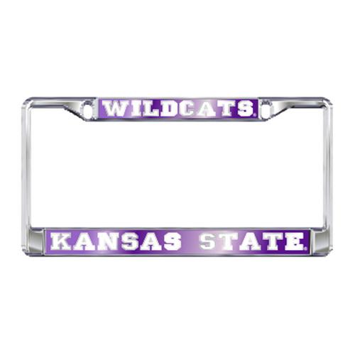 Kansas State Plate_Frame (MIR DOMED K-STATE PLATE FRAME (21142))
