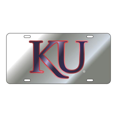 Kansas Tag (LASER SIL RED OUTLINE BLUE KU (19048))