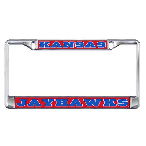 Kansas Plate Frame (DOMED KS METAL PLATE FRAME (19095))