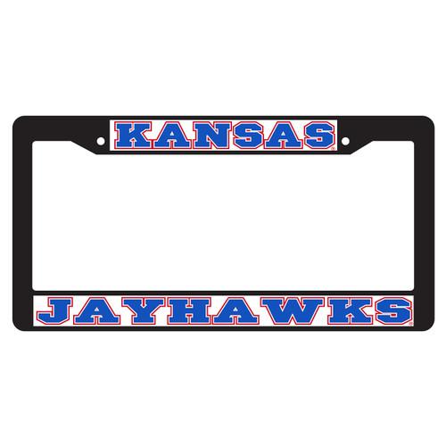Kansas Plate Frame (BLACK PLATE FRAME KAS JAYHAWK (19077))