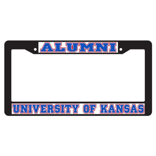 Kansas Plate Frame (BLACK PLATE FRAME KAS ALUMNI (19079))