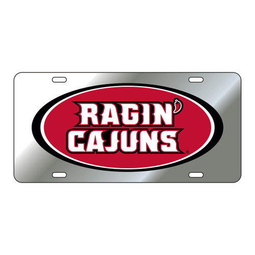 Louisiana-Lafayette Plate Frame (DOMED RAGIN CAJUNS PLATE (45022))