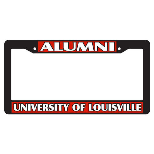 Louisville Plate Frame (BLK PLATE FRAME LOUIS ALUMNI (36531))