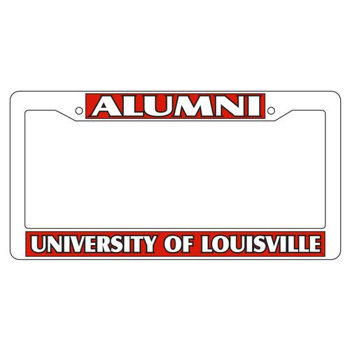 Louisville Plate Frame (WHT PLATE FRAME LOUIS ALUMNI (36532))
