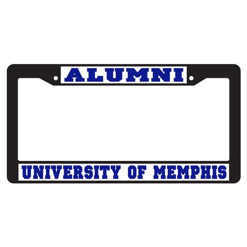Memphis Plate Frame (BLACK PLATE FRAME MEM ALUMNI (22080))