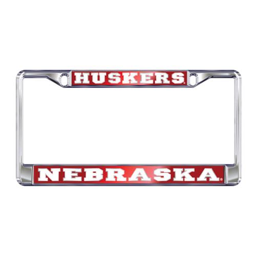 Nebraska Plate_Frame (MIRROR DOMED NEB PLATE FRAME (27137))