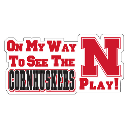 Nebraska Plate_Frame (ON MY WAY TO SEE THE HUSKERS M (27106))