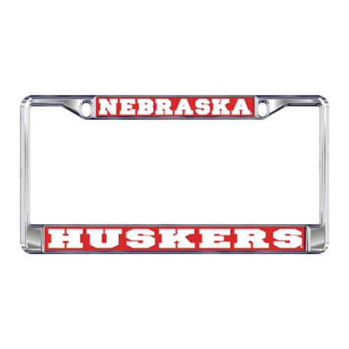 Nebraska Plate_Frame (DOMED NEBRASKA METAL PLATE FRA (27115))