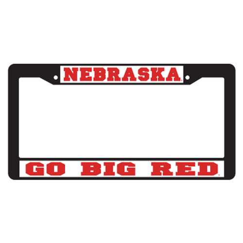 Nebraska Plate_Frame (BLACK PLATE FRAME NEB BIG RED (27062))