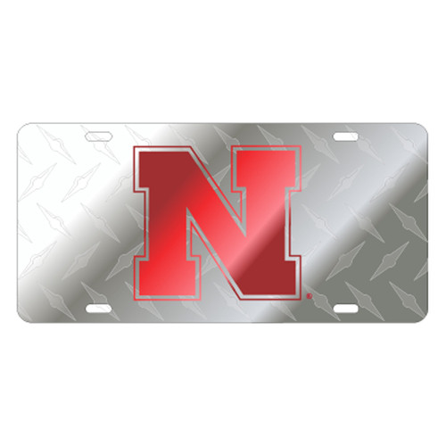 Nebraska Plate_Frame (LASER N DIAMOND BACK SATIN TAG (27111))