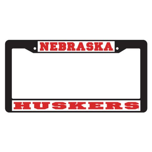 Nebraska Plate_Frame (BLACK PLATE FRAME NEB HUSKERS (27060))