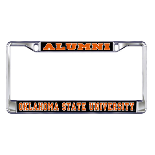 Oklahoma State Plate_Frame (DOMED OSU ALUMNI PLATE FRAME (21566))