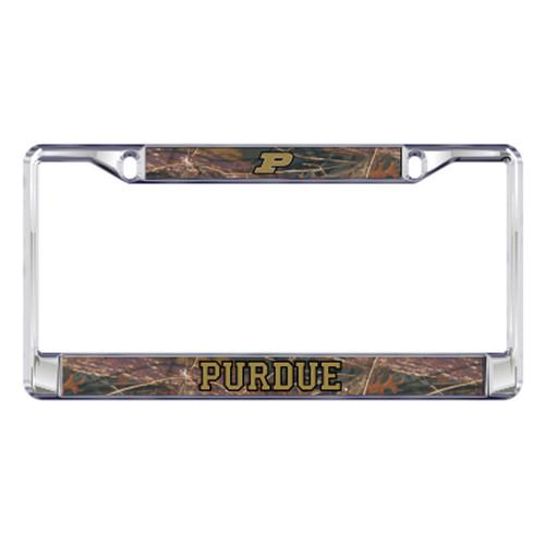 Purdue Plate_Frame (DOMED CAMO PURDUE PLT FRAME (18568))