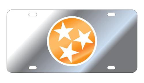 University of Tennessee Tags (Mirror Acrylic with Orange Mirror/White Logo (99554))