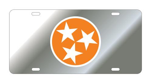 University of Tennessee Tags (Mirror Acrylic with Orange/White Acrylc Logo (99555))